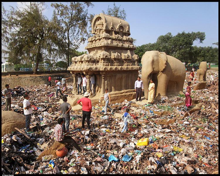 Five Rathas in Mamallapuram. South India.