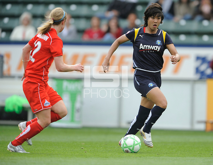 Los Angeles Sol (8) Aya Miyama during game against  the  Washington Freedom  at the Home Depot Center in Carson, CA on Sunday, March 29, 2009..