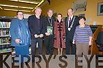 The launch of The Kerry Magazine by the Kerry Archeological & Historical Society at the Dingle Library on Saturday evening. From left: Isabel Bennett, Tadhgh Coileain, An Canonach Tomas Ó Luanaigh (president), Marie O'Sullivan (editor), Seamus Cosaí McGearailt (Kerry Mayor), Kathleen Browne (past president).