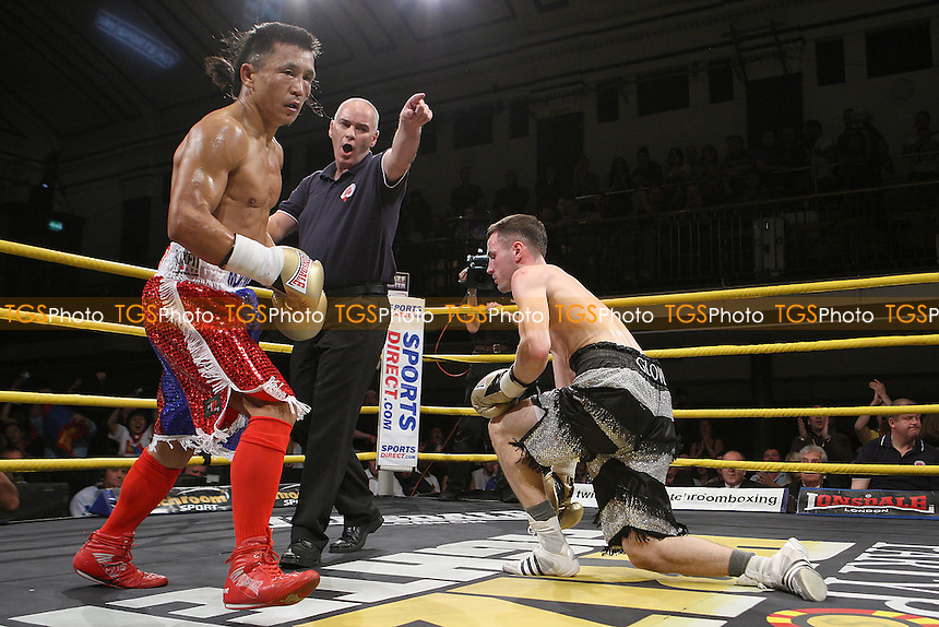 Choi Tseveenpurev defeats Lee Glover in Quarter-Final 1 of Prizefighter Featherweights Boxing at York Hall, Bethnal Green promoted by Matchroom Sports - 29/10/11 - MANDATORY CREDIT: Gavin Ellis/TGSPHOTO - Self billing applies where appropriate - 0845 094 6026 - contact@tgsphoto.co.uk - NO UNPAID USE..