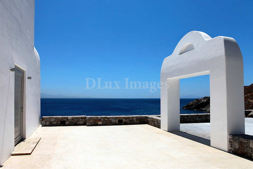 front entry of cycladic house