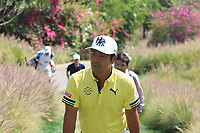 Hideto Tanihara (JPN) in action on the 16th during Round 4 of the Hero Indian Open at the DLF Golf and Country Club on Sunday 11th March 2018.<br /> Picture:  Thos Caffrey / www.golffile.ie<br /> <br /> All photo usage must carry mandatory copyright credit (&copy; Golffile | Thos Caffrey)
