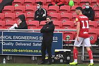4th July 2020; Ashton Gate Stadium, Bristol, England; English Football League Championship Football, Bristol City versus Cardiff City; Lee Johnson Manager of Bristol City looks on frustrated by his team's performance