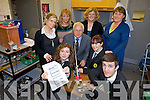 IT'S SEISMOLOGY: Mercy Mounthawk secondary school is one of only two schools in Kerry to have seismology equipment set up in their school. Pictured were: Aisling Shalvey, Siobhan Gannon and David Griffin. Back l-r were: teachers Naomi Nevin, Stella O'Shea, Margaret Leen and Teresa Deenihan.