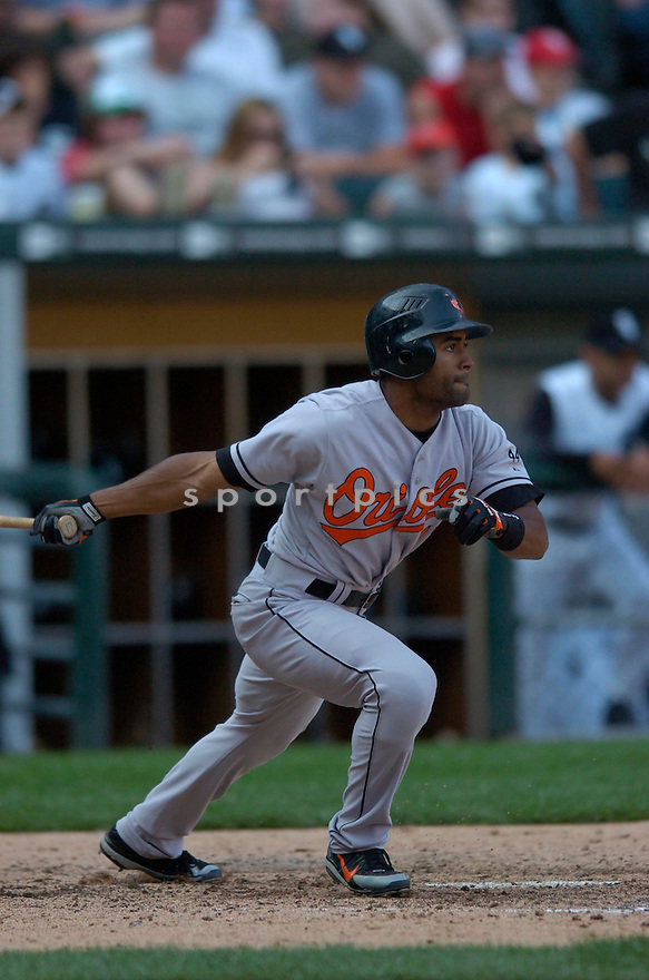 Corey Patterson, of the Baltimore Orioles, during their game against the Chicago White Sox on July 4, 2006 in Chicago.....Chris Bernacchi / SportPics