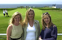 Pictured at the Murphy's Irish Open in Ballybunion were sisters, maree, Roisin and Micheline McNamara from CCP..Picture by Don MacMonagle.with compliments of Murphy's