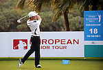 TAIPEI, TAIWAN - NOVEMBER 20:  Lorens Chan of USA tees off on the 18th hole during day three of the Fubon Senior Open at Miramar Golf & Country Club on November 20, 2011 in Taipei, Taiwan. Photo by Victor Fraile / The Power of Sport Images