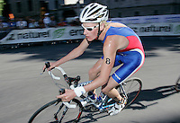 03 SEP 2006 - LAUSANNE, SWITZERLAND - Will Clarke (GBR) - u23 Mens World Triathlon Championships '06. (PHOTO (C) NIGEL FARROW)