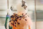 Lola Goodman dress detail and accessories at the Catherine Martin and Muccia Prada Dress Gatsby display at Prada store in SOHO, NYC May 4, 2013.