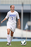 24 August 2012: Duke's Libby Jandl. The Duke University Blue Devils defeated the University of Montreal Caribins 4-1 at Fetzer Field in Chapel Hill, North Carolina in an international women's collegiate friendly game.