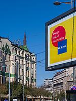 Jugendstil Hotel Moskva, Terazije Platz 20, Belgrad, Serbien, Europa<br /> Art Nouveau, Hotel Moskva, Terazije square 20, Belgrade, Serbia, Europe