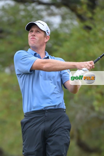 David Hearn (CAN) watches his tee shot on 2 during Round 3 of the Valero Texas Open, AT&T Oaks Course, TPC San Antonio, San Antonio, Texas, USA. 4/21/2018.<br /> Picture: Golffile | Ken Murray<br /> <br /> <br /> All photo usage must carry mandatory copyright credit (© Golffile | Ken Murray)
