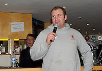 Forwards CoachTim Payne speaking during the Pre-match hospitality ahead of the Greene King IPA Championship match between London Scottish Football Club and Ealing Trailfinders at Richmond Athletic Ground, Richmond, United Kingdom on 26 December 2015. Photo by Alan  Stanford / PRiME Media Images