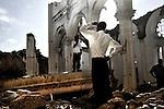 Premier anniversaire du séisme en Haiti, cathédrale de Port au Prince