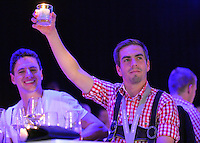 10.05.2014, Postpalast, Muenchen, GER, 1. FBL, FC Bayern Muenchen Meisterfeier, im Bild Philipp Lahm of FC Bayern Muenchen celebrates Philipp Lahm, // during official Championsparty of Bayern Munich at the Postpalast in Muenchen, Germany on 2014/05/11. EXPA Pictures © 2014, PhotoCredit: EXPA/ Eibner-Pressefoto/ EIBNER<br /> <br /> *****ATTENTION - OUT of GER***** <br /> Football Calcio 2013/2014<br /> Bundesliga 2013/2014 Bayern Campione Festeggiamenti <br /> Foto Expa / Insidefoto