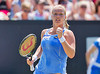 Netherlands, Rosmalen , June 11, 2015, Tennis, Topshelf Open, Autotron, Kiki Bertens (NED) jubilates her victory over Pavlyuchenkova<br /> Photo: Tennisimages/Henk Koster