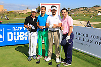 Team Lorenzo Vera during the ProAm ahead of the Rocco Forte Sicilian Open played at Verdura Resort, Agrigento, Sicily, Italy 09/05/2018.<br /> Picture: Golffile | Phil Inglis<br /> <br /> <br /> All photo usage must carry mandatory copyright credit (&copy; Golffile | Phil Inglis)