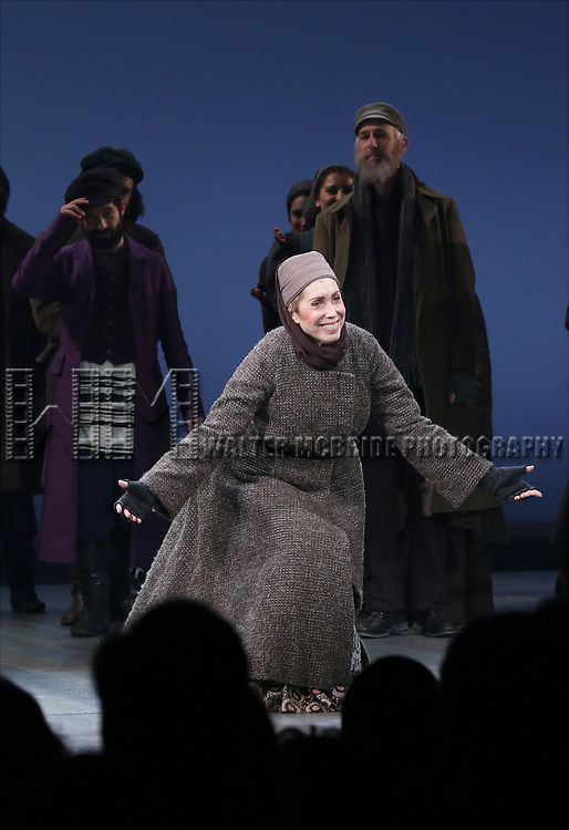 Alix Korey during the Broadway Opening Night Performance Curtain Call bows for 'Fiddler On The Roof'  at the Broadway Theatre on December 20, 2015 in New York City.