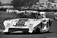 The Porsche 935 of Bruce Leven, Al Holbert and Hurley Haywood shows the ill effects of an off-course excursion at the 12 Hours of Sebring in 1983. Despite the damage, the trio finished the race in 3rd place.