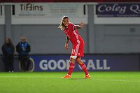 Natasha Harding of Wales during the UEFA Womens Euro Qualifier match between Wales and Northern Ireland at Rodney Parade in Newport, Wales, UK. Tuesday 03, September 2019