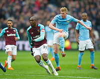 Manchester City Kevin De Bruyne during the EPL - Premier League match between West Ham United and Manchester City at the Olympic Park, London, England on 29 April 2018. Photo by Andrew Aleksiejczuk / PRiME Media Images.