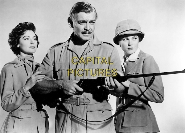 AVA GARDNER, CLARK GABLE & GRACE KELLY.in Mogambo (1953).*Filmstill - Editorial Use Only*.CAP/STF/PEL.Supplied by Capital Pictures.