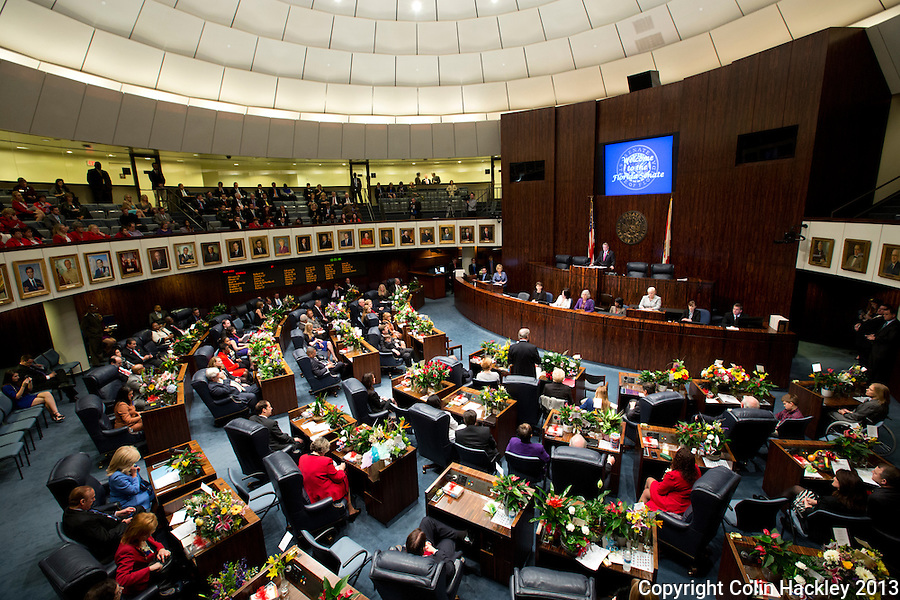 TALLAHASSEE, FLA. 3/5/13-OPENING030513CH-Senate President Don Gaetz, R-Niceville, leads the Senate during the opening day of the 2013 legislative session Tuesday at the Capitol in Tallahassee, Fla...COLIN HACKLEY PHOTO