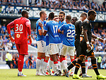 14.07.2019: Rangers v Marseille: Connor Goldson celebrates his toe poke