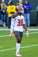 Tampa Bay Buccaneers cornerback Robert McClain (36) during a National Football League game against the Green Bay Packers on December 2nd, 2017 at Lambeau Field in Green Bay, Wisconsin. Green Bay defeated Tampa Bay 26-20. (Brad Krause/Krause Sports Photography)