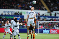 George Byers of Swansea City in action during the Sky Bet Championship match between Swansea City and Hull City at the Liberty Stadium in Swansea, Wales, UK. Saturday 27 April 2019