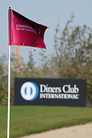 Flag on on the 18th green during the first round of the Commercial Bank Qatar Masters 2020, Education City Golf Club , Doha, Qatar. 05/03/2020<br /> Picture: Golffile | Phil Inglis<br /> <br /> <br /> All photo usage must carry mandatory copyright credit (© Golffile | Phil Inglis)