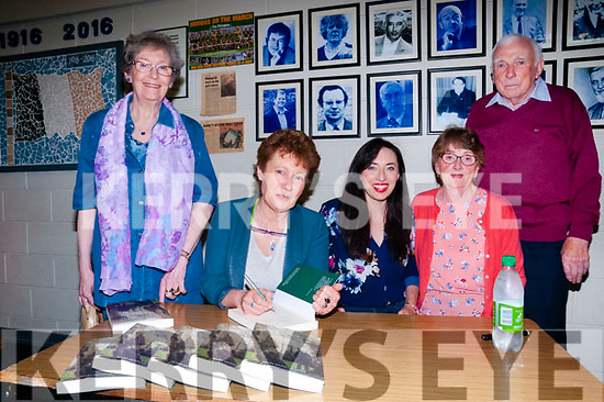 """Book Signing : Mary MacGillacuddy, Listowel signing cop[es of her book """"John Moriarity Not The Whole Story"""" at St Michael's College, Listowel on Friday nigh last pictured with Anne Wixted, Sarah McGillacuddy & Richie & Kathleen Lydon."""