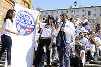 Roma, 9 Maggio 2014<br /> 'I Love EU' - Flash mob organizzato da Scelta Civica in occasione della Festa dell'Europa.<br />  Andrea Romano