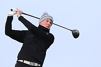 Liam Power (Galway) on the 1st tee during Round 3 of The West of Ireland Open Championship in Co. Sligo Golf Club, Rosses Point, Sligo on Saturday 6th April 2019.<br /> Picture:  Thos Caffrey / www.golffile.ie
