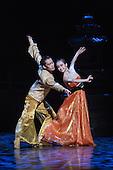 London, UK. 17 August 2016. QI Bingxue as Lady Yang and Wu Husheng as Emperor. Shanghai Ballet return to the London Coliseum for five performances of their new production Echoes of Eternity, choreographed by Patrick de Bana and inspired by the ancient Chinese poem Song of Everlasting Sorrow. With WU Husheng as Emperor, QI Bingxue as Lady Yang, ZHAO Hanbing as Moon Fairy. Performances from 17 to 21 August 2016.