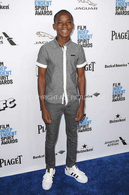 WWW.ACEPIXS.COM<br /> <br /> January 9 2016, New York City<br /> <br /> Abraham Attah arriving at the 2016 Film Independent Filmmaker Grant and Spirit Award Nominees Brunch at BOA Steakhouse on January 9, 2016 in West Hollywood, California. <br /> <br /> By Line: Peter West/ACE Pictures<br /> <br /> <br /> ACE Pictures, Inc.<br /> tel: 646 769 0430<br /> Email: info@acepixs.com<br /> www.acepixs.com