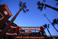 SAN FRANCISCO, CA - Exterior view of Pacific Bell Park at sunset, home of the San Francisco Giants, in San Francisco, California in 2000. Photo by Brad Mangin