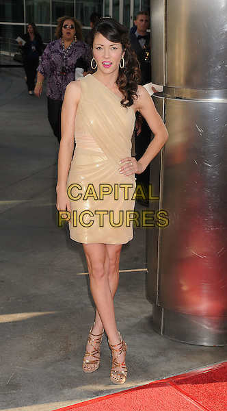 "Vedette Lim.HBO's ""True Blood"" Season 4 Premiere Held At The ArcLight Cinemas Cinerama Dome, Hollywood, California, USA..June 21st, 2011.full length beige dress hand on hip.CAP/ROT/TM.©Tony Michaels/Roth Stock/Capital Pictures"