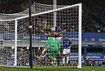 Michael Keane of Everton scores the first goal during the Europa League Qualifying Play Offs 1st Leg match at Goodison Park Stadium, Liverpool. Picture date: August 17th 2017. Picture credit should read: David Klein/Sportimage