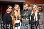 Sorenta Ivanauskaite, Veronika Klisina, Sian English-Avans and Chelsea Moriarty enjoying Womens Christmas in Benners Hotel on Sunday night.