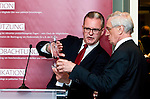 "BRUSSELS - BELGIUM - 24 March 2015 -- BOGK - German Association of the Fruit, Vegetable and Potato Processing Industry - Award ceremony ""Ambassador of Good Taste"". -- Werner KOCH, Managing Director BOGK Bonn and Brussels offices and MEP Albert DESS, Group of the European People's Party (Christian Democrats - Germany).  -- Photo: Juha ROININEN / EUP-IMAGES"