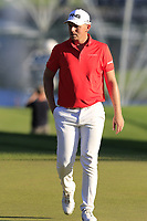 Matt Wallace (ENG) at the 18th green during Thursday's Round 1 of the 2018 Turkish Airlines Open hosted by Regnum Carya Golf &amp; Spa Resort, Antalya, Turkey. 1st November 2018.<br /> Picture: Eoin Clarke | Golffile<br /> <br /> <br /> All photos usage must carry mandatory copyright credit (&copy; Golffile | Eoin Clarke)