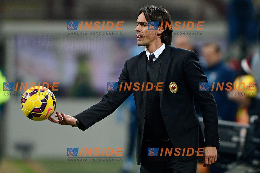 Filippo Inzaghi Milan<br /> Milano 27-01-2015 Stadio Giuseppe Meazza - Football Calcio Coppa Italia Milan - Lazio. Foto Giuseppe Celeste / Insidefoto
