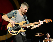 WEST PALM BEACH, FL - OCTOBER 02: Tim Commerford of Prophets of Rage performs at The Perfect Vodka Amphitheater on October 2, 2016 in West Palm Beach Florida. Credit Larry Marano © 2016