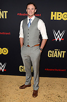 """LOS ANGELES - FEB 29:  Kyle Weishaar at the """"Andre The Giant"""" HBO Premiere at the Cinerama Dome on February 29, 2018 in Los Angeles, CA"""