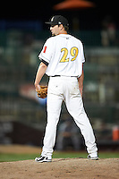 South Bend Silver Hawks pitcher Kable Hogben #29 during a Midwest League game against the West Michigan Whitecaps at Coveleski Stadium on August 15, 2012 in South Bend, Indiana.  West Michigan defeated South bend 7-1.  (Mike Janes/Four Seam Images)