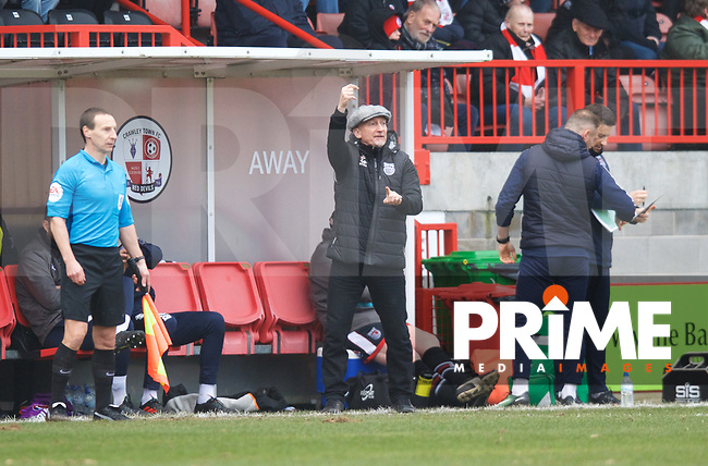 Ian Holloway Manager of Grimsby Town during the Sky Bet League 2 match between Crawley Town and Grimsby Town at The People's Pension Stadium, Crawley, England on 25 January 2020. Photo by Alan  Stanford / PRiME Media Images.