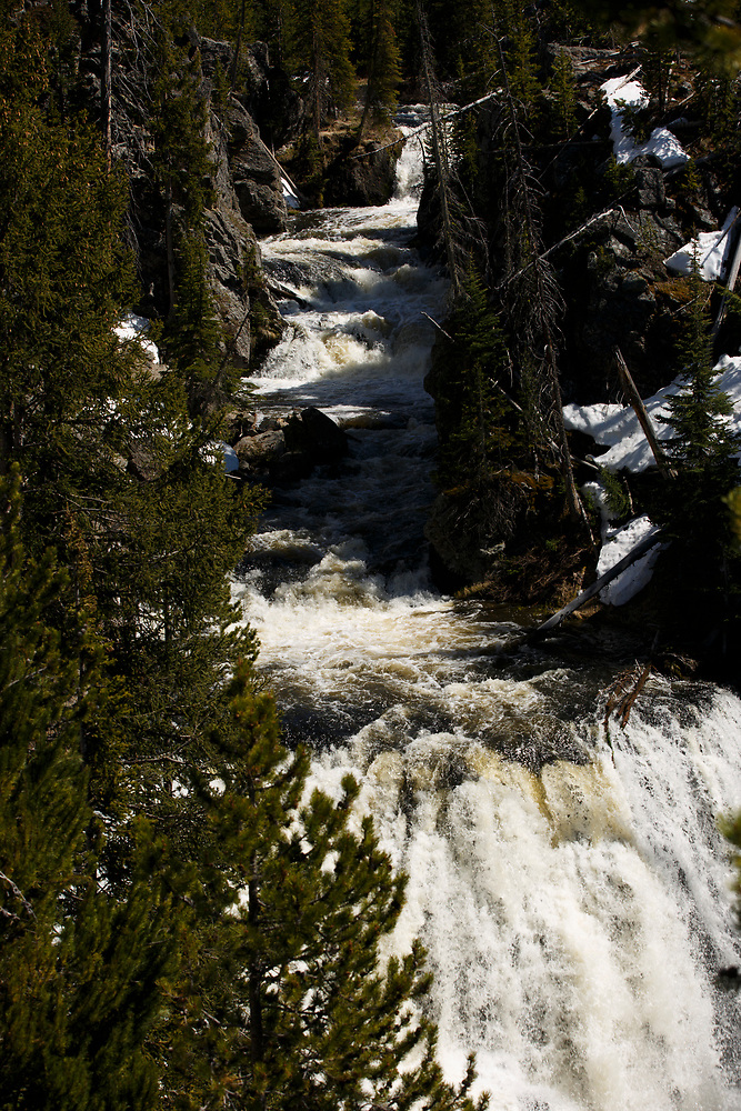 Kepler Cascades, a waterfall on the FIrehole River, is pictured in Yellowstone National Park, Wyoming on Tuesday, May 23, 2017. (Photo by James Brosher)