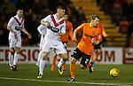 Ruki Riski in action on his debut for Dundee Utd