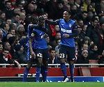 Monaco's Geoffrey Kondogbia celebrates scoring his sides opening goal<br /> <br /> Champions League - Arsenal  vs AS Monaco  - Emirates Stadium - England - 25th February 2015 - Picture David Klein/Sportimage